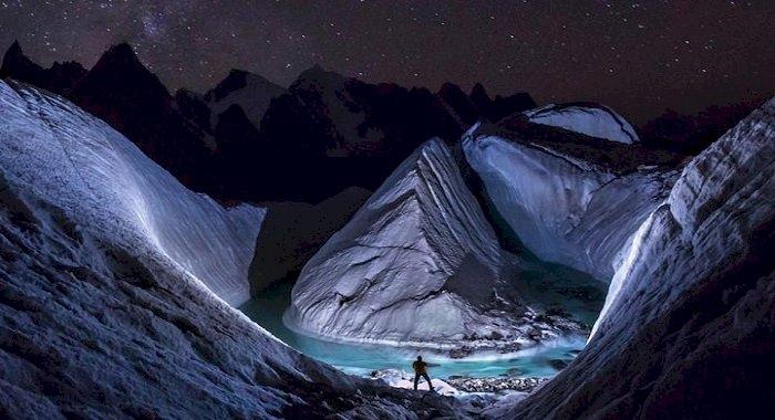 Un ghețar unic din Himalaya, descoperit cu o dronă